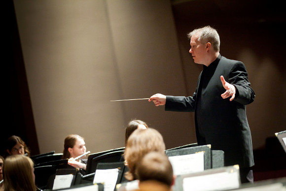Concert band conductor